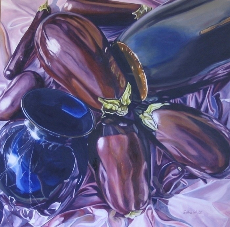 (CreativeWork) Dark Reflections by Delma White. oil-painting. Shop online at Bluethumb.