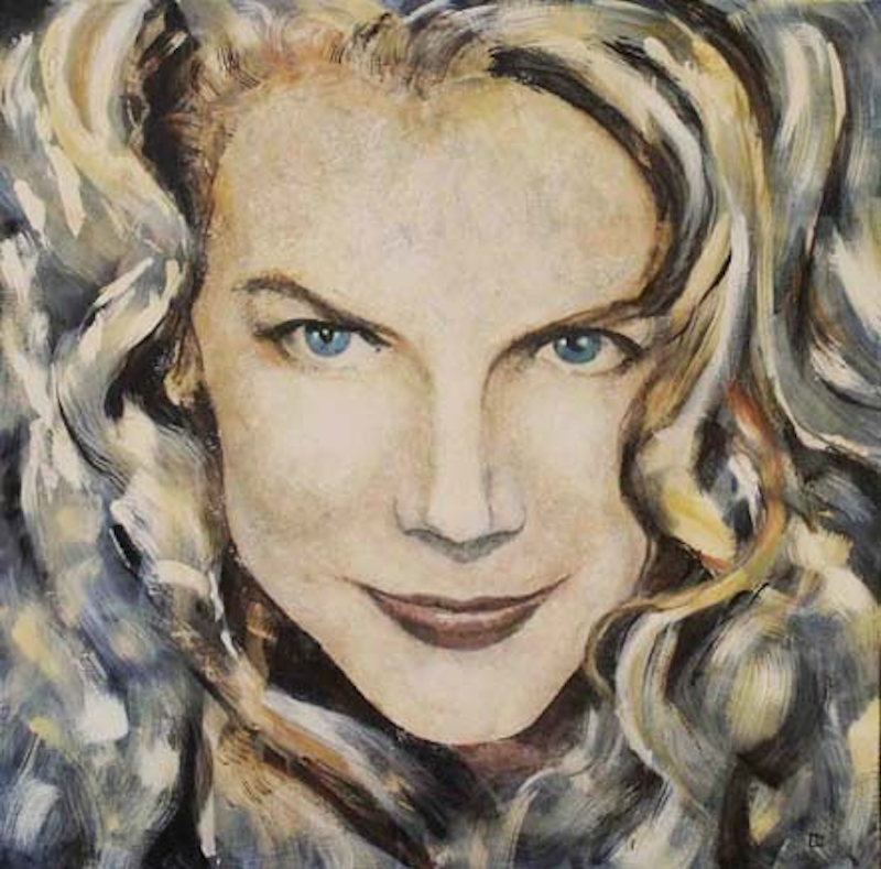 (CreativeWork) INSPIRING NICOLE KIDMAN by MO -. arcylic-painting. Shop online at Bluethumb.