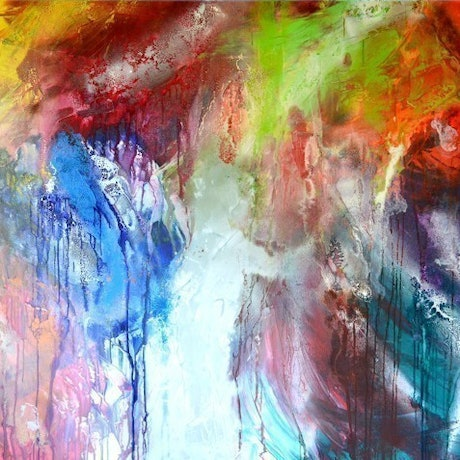 (CreativeWork) Colour Fusion by Lynne Godina-Orme. Acrylic Paint. Shop online at Bluethumb.