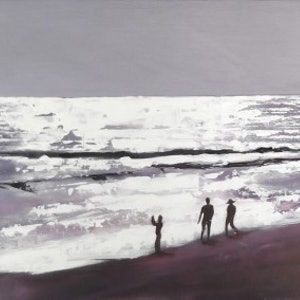 (CreativeWork) Seminyak Sunset by Janelle White. arcylic-painting. Shop online at Bluethumb.