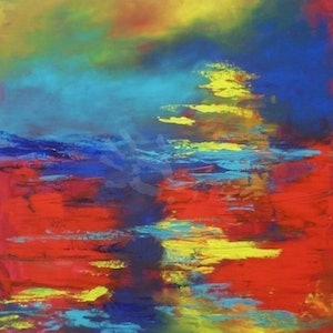 (CreativeWork) River by Sue Clark. arcylic-painting. Shop online at Bluethumb.