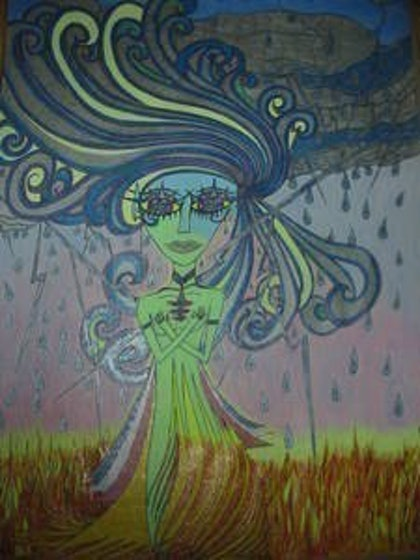 (CreativeWork) weather maiden by Justine Rogers. other-media. Shop online at Bluethumb.