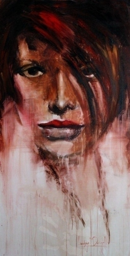 (CreativeWork) Girl with white shirt by Lindsay McDougall. arcylic-painting. Shop online at Bluethumb.