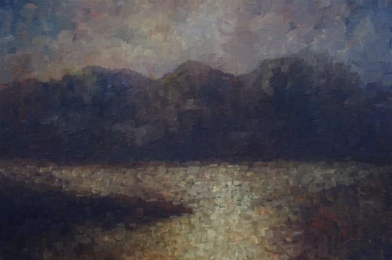 (CreativeWork) Catching the light by GEOFF WINCKLE. oil-painting. Shop online at Bluethumb.