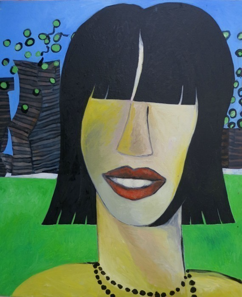 (CreativeWork) Girl by John Graham. oil-painting. Shop online at Bluethumb.