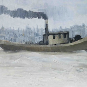 (CreativeWork) Boat 8 by John Graham. oil-painting. Shop online at Bluethumb.