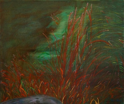 (CreativeWork) Gorge Grasses by Irena Grant-Koch. arcylic-painting. Shop online at Bluethumb.