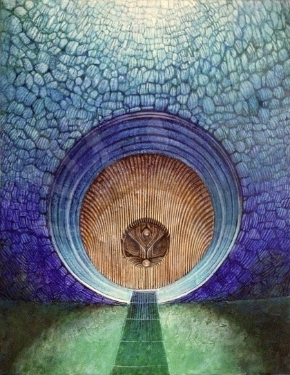 (CreativeWork) Blue Door: Peacock by Zach Wong. arcylic-painting. Shop online at Bluethumb.