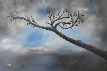 (CreativeWork) Tree by Elzette .. oil-painting. Shop online at Bluethumb.
