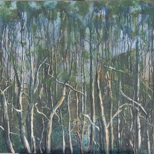 (CreativeWork) Misty Morning by Garrie Clark. acrylic-painting. Shop online at Bluethumb.