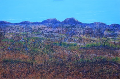 (CreativeWork) Baron Land by Garrie Clark. arcylic-painting. Shop online at Bluethumb.