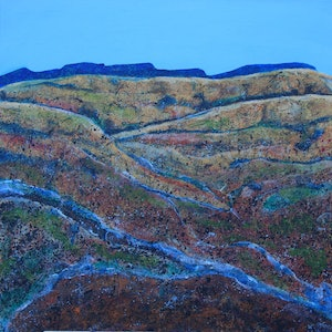 (CreativeWork) Miners what they do to owe wonderfull land by Garrie Clark. arcylic-painting. Shop online at Bluethumb.