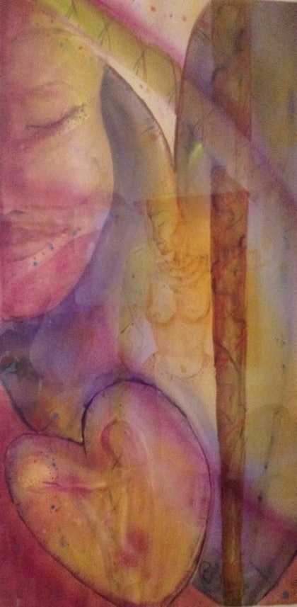 (CreativeWork) Sisters by Christine Shand. watercolour. Shop online at Bluethumb.