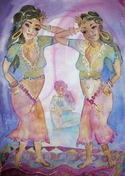 (CreativeWork) Dance by Christine Shand. watercolour. Shop online at Bluethumb.