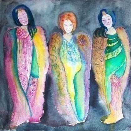 (CreativeWork) Trios Belles by Christine Shand. watercolour. Shop online at Bluethumb.