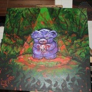 (CreativeWork) How the bear got his heart by George Harding. arcylic-painting. Shop online at Bluethumb.