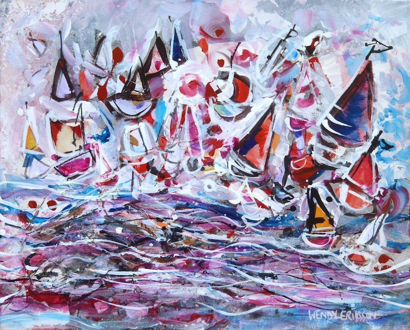 (CreativeWork) Shipwreck Beneath by Wendy Eriksson. mixed-media. Shop online at Bluethumb.