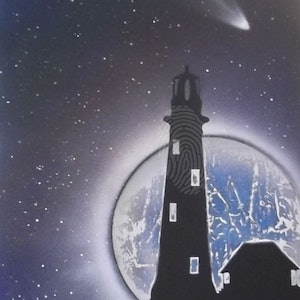 (CreativeWork) wake the lighthouse keeper by Paris Kis. arcylic-painting. Shop online at Bluethumb.
