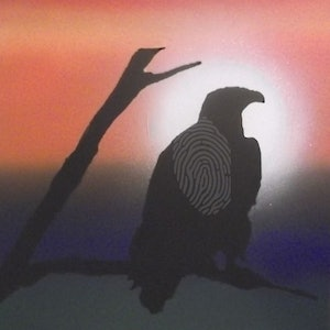 (CreativeWork) EAGLE by Paris Kis. arcylic-painting. Shop online at Bluethumb.