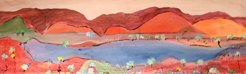 (CreativeWork) WINEGLASS BAY by DEREK ERSKINE. arcylic-painting. Shop online at Bluethumb.