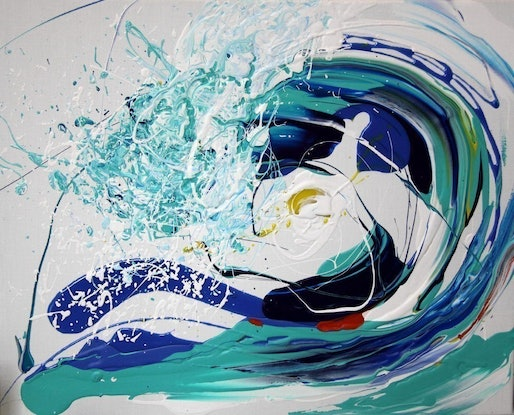 (CreativeWork) Afternoon Delight - Wave Series by Annette Spinks. Mixed Media. Shop online at Bluethumb.