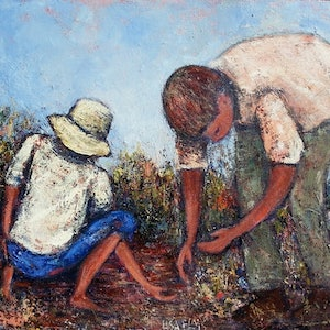 """(CreativeWork) """"Looking for..."""" by Lisa Elms. mixed-media. Shop online at Bluethumb."""