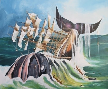 (CreativeWork) FRANK..WHALE by Jon de Graaff. oil-painting. Shop online at Bluethumb.