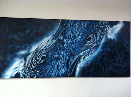 (CreativeWork) Enthralling Emporer by Melissa Purdy. oil-painting. Shop online at Bluethumb.