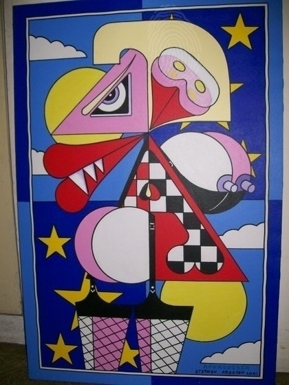 (CreativeWork) aphrodisia by stephen preston. arcylic-painting. Shop online at Bluethumb.