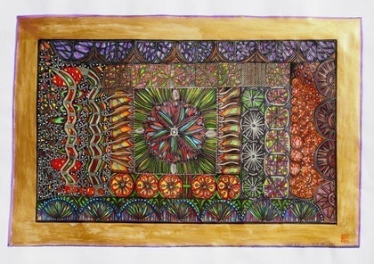 (CreativeWork) In the kernel of light there is eternal love by Merle Wiitpom. mixed-media. Shop online at Bluethumb.
