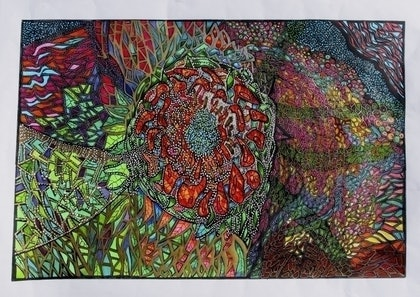 (CreativeWork) When it grows it grows by Merle Wiitpom. mixed-media. Shop online at Bluethumb.
