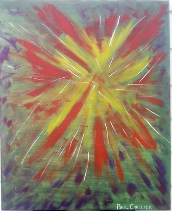 (CreativeWork) Evolution by Paul Crollick. Acrylic Paint. Shop online at Bluethumb.