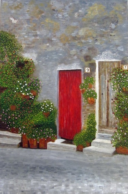 (CreativeWork) Porta Rossa by Claudio Fenici. arcylic-painting. Shop online at Bluethumb.