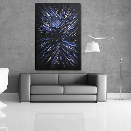(CreativeWork) Time to Time by Paul Ikin. arcylic-painting. Shop online at Bluethumb.