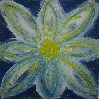 (CreativeWork) Flower 4 by Melanie Doheny. mixed-media. Shop online at Bluethumb.