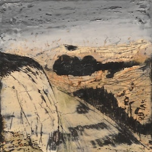 (CreativeWork) Bluff Rock by Anna Henderson. mixed-media. Shop online at Bluethumb.