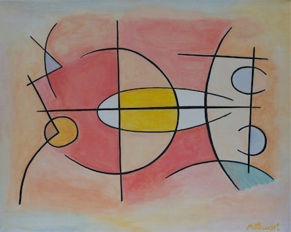 (CreativeWork) Desert Structure by Michael Stewart. arcylic-painting. Shop online at Bluethumb.