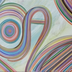 (CreativeWork) Abstract #14 by Lauren Suchenski. arcylic-painting. Shop online at Bluethumb.
