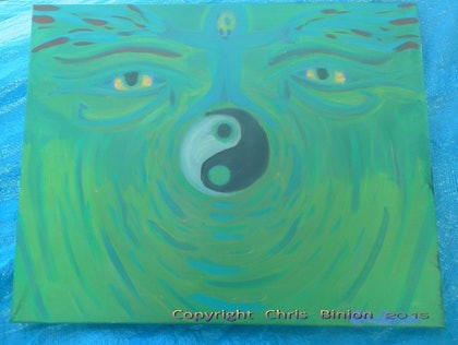 (CreativeWork) SpiritSoul by Chris Binion. oil-painting. Shop online at Bluethumb.