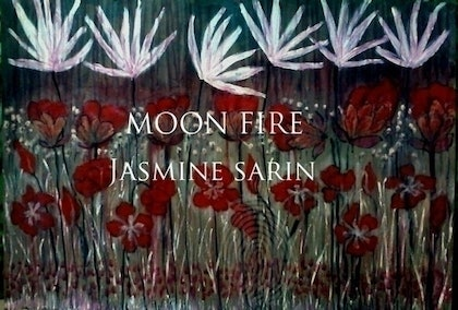(CreativeWork) Moon Fire by Jasmine Sarin. arcylic-painting. Shop online at Bluethumb.