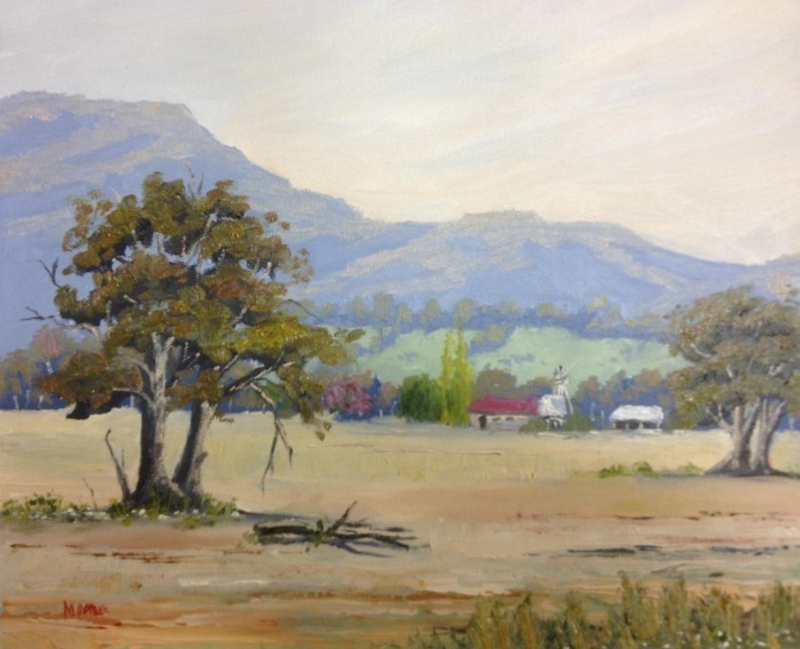 (CreativeWork) Fields Of Gold by Rod Moore. oil-painting. Shop online at Bluethumb.