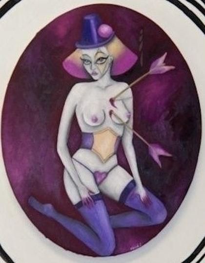 """(CreativeWork) \""""Rosalba\"""" (White Rose) from the \'imPALEd\' series by Rebecca Boyd Defina. oil-painting. Shop online at Bluethumb."""