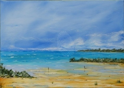 (CreativeWork) Impressions of Apollo Bay by Ian Lamport. arcylic-painting. Shop online at Bluethumb.