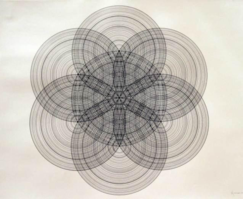 (CreativeWork) Radials by Anomynous Artist. drawing. Shop online at Bluethumb.