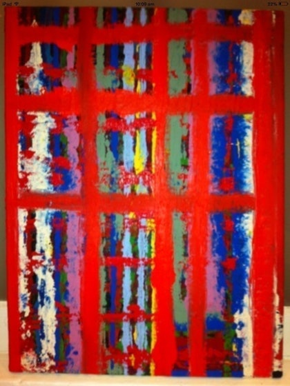 (CreativeWork) Eyecandy by Simon Brown. arcylic-painting. Shop online at Bluethumb.