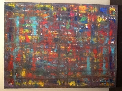(CreativeWork) Worldstop by Simon Brown. arcylic-painting. Shop online at Bluethumb.
