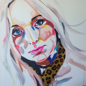 (CreativeWork) Collars for Sale by Jac Clark. arcylic-painting. Shop online at Bluethumb.