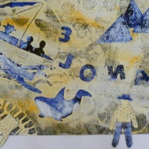(CreativeWork) Jonah and the whale by Brigitte Zimmermann. print. Shop online at Bluethumb.