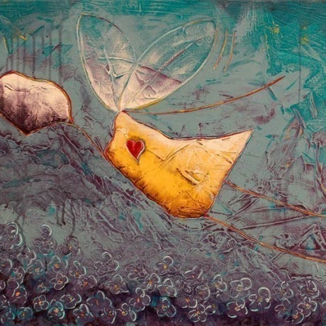 (CreativeWork) Flying by Ben Brennan. Acrylic Paint. Shop online at Bluethumb.