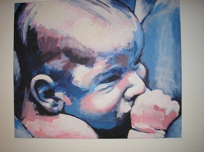 (CreativeWork) Ella by Andrew Dunsire. arcylic-painting. Shop online at Bluethumb.